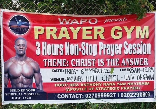 prayer gym accra ghana