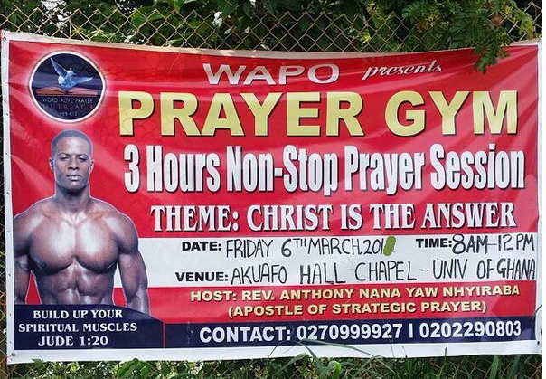 prayer gym accra ghana